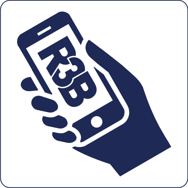 Emergency Response Team icoon blauw | R3B Safety & Rescue