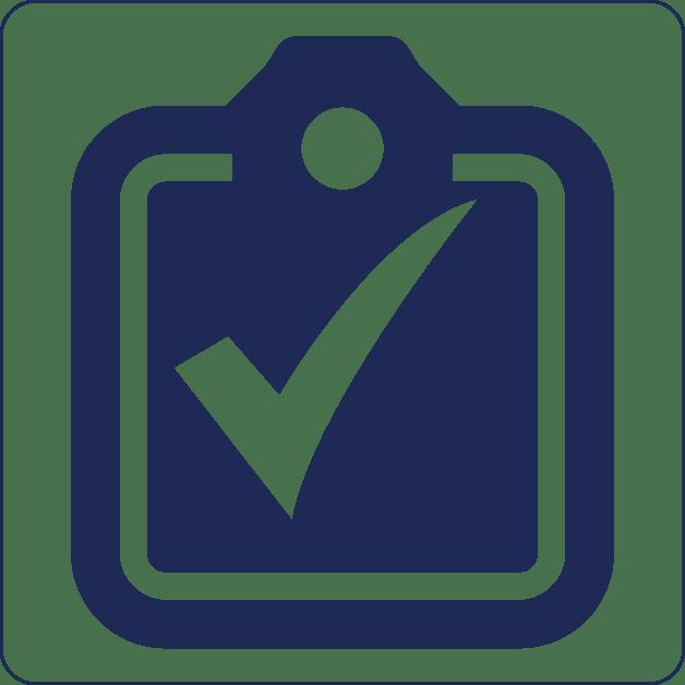 Keuring en inspectie icoon blauw | R3B Safety & Rescue